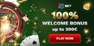 22Bet Casino Bonuses