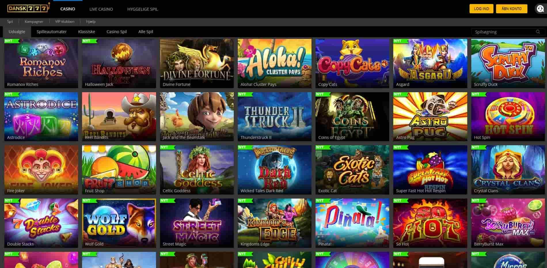Dansk777 Casino Games