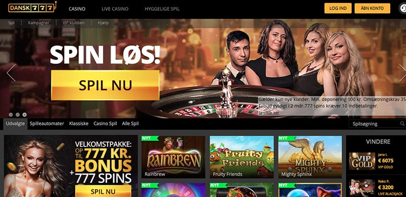Dansk777 Casino Homepage