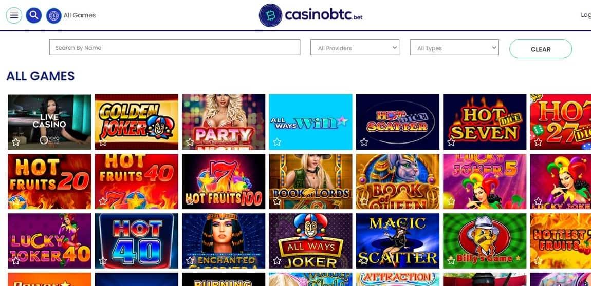 CasinoBTC Games